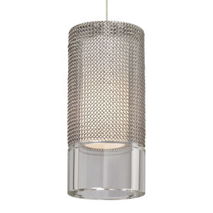 Manchon Chrome One-Light Mini Pendant with Clear Shade and Chrome Stem