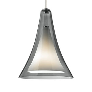 Melrose II Smoke Glass One-Light Low-Voltage Mini-Pendant
