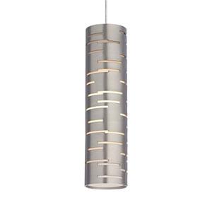 Revel Satin Nickel One-Light Mini Pendant with Satin Nickel Shade and Satin Nickel Stem