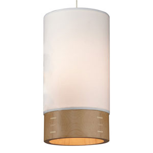 Topo Satin Nickel One-Light Mini Pendant with White Shade and Satin Nickel Stem