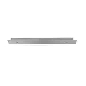Satin Nickel 3-Port Long Linear Canopy Accessory with Metal Trim