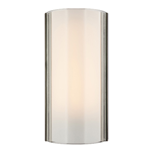 Jaxon Satin Nickel LED Wall Sconce with Clear Glass