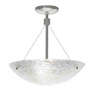 Trace Satin Nickel 16-Inch High One-Light Pendant with Crystal Glass