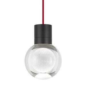 Mina Black LED Line-Voltage Mini-Pendant with Red Cord