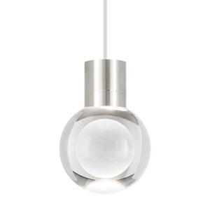 Mina Satin Nickel 3000 Kelvin LED Line-Voltage Mini-Pendant with White Cord