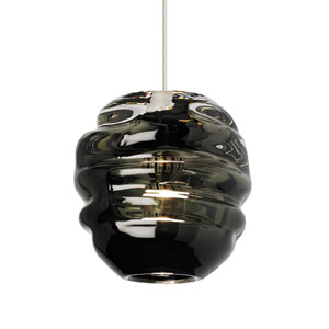 Audra Smoke Glass One-Light Line-Voltage Mini-Pendant