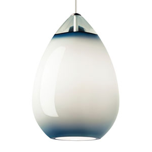 Alina Grande Steel Blue One-Light Line-Voltage Mini-Pendant