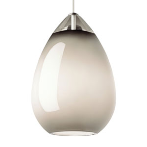 Alina Grande Smoke Glass One-Light Line-Voltage Mini-Pendant