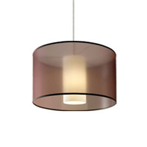 Dillon Brown One-Light Pendant with Antique Bronze Canopy