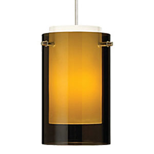 Echo Havana Brown One-Light Mini Pendant with White Canopy
