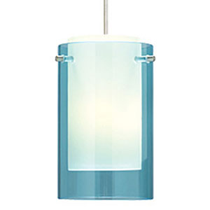 Echo Aquamarine One-Light Mini Pendant with Satin Nickel Canopy