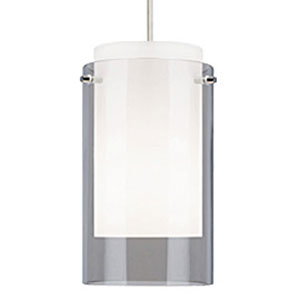 Echo Smoke One-Light Mini Pendant with White Canopy