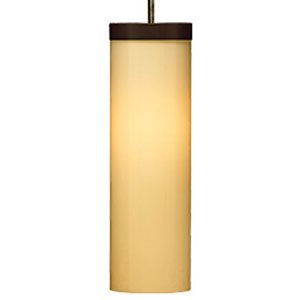 Hudson Latte One-Light Mini Pendant with Antique Bronze Canopy