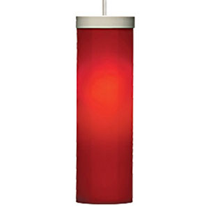 Hudson Red One-Light 120V Fluorescent Mini Pendant with White Canopy