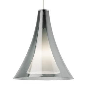 Melrose Grande Smoke Glass One-Light Line-Voltage Pendant