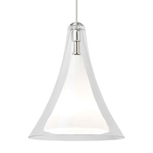Melrose II Clear Glass One-Light Line-Voltage Mini-Pendant