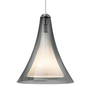 Melrose II Smoke Glass One-Light Line-Voltage Mini-Pendant