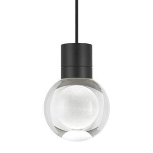 Mina Black LED Line-Voltage Mini-Pendant with Black Cord
