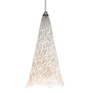 Ovation White Frit One-Light Mini Pendant with White Canopy