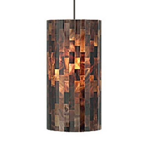 Playa Brown One-Light Fluorescent Mini Pendant with Antique Bronze Canopy