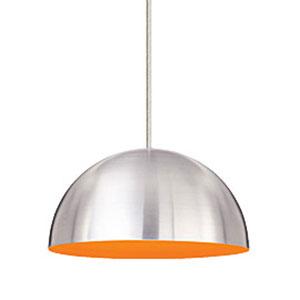 Powell Street Satin Orange One-Light Pendant with Satin Nickel Canopy
