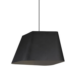 Rhonan Grande Black One-Light Line-Voltage Pendant
