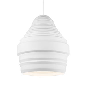 Ryker White One-Light Line-Voltage Pendant
