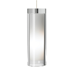 Sara Grande Satin Nickel One-Light Mini Pendant with Clear Glass