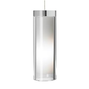 Sara Grande Satin Nickel One-Light Mini Pendant with Clear Glass