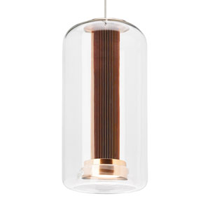 Amira Copper LED Line-Voltage Mini-Pendant