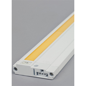Unilume White 30-Inch Length 3000K 90 CRI LED Slimline Under Cabinet Light