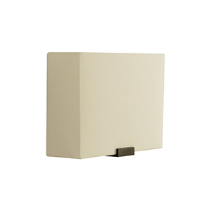 Boreal White Bronze LED Wall Sconce with Ivory Shade