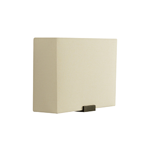 Boreal White Bronze One-Light Wall Sconce with Ivory Shade
