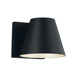 Bowman 4 Black One-Light LED Wall Sconce with Black Stem