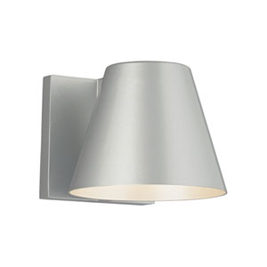 Bowman 4 Silver One-Light LED Wall Sconce with Silver Stem