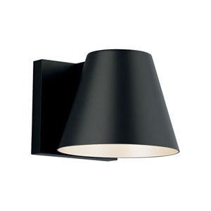 Bowman 6 Black One-Light LED Wall Sconce with Black Stem