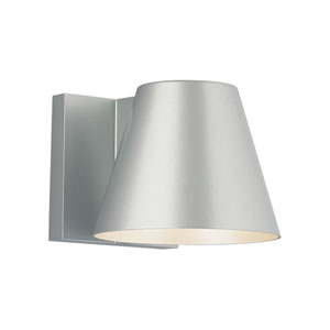 Bowman 6 Silver One-Light LED Wall Sconce with Silver Stem