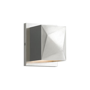 Cafe Satin Nickel and Satin Nickel LED Wall Sconce