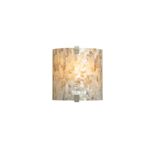 Essex Natural Shell One-Light Fluorescent Wall Sconce with Satin Nickel Hardware