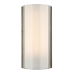 Jaxon Satin Nickel One-Light Wall Sconce with Clear Glass