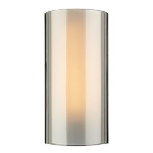 Jaxon Satin Nickel One-Light Wall Sconce with Smoke Glass