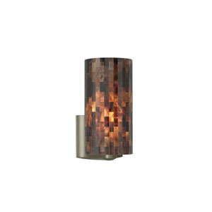 Playa Brown One-Light Wall Sconce with Satin Nickel Base