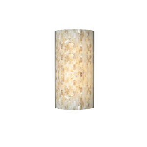 Playa Natural Two-Light LED Wall Sconce with Satin Nickel Base