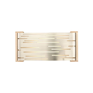 Revel Satin Nickel LED Wall Sconce with Maple Glass