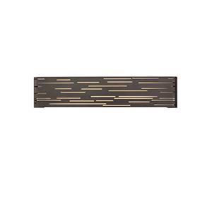 Revel Antique Bronze LED Linear Bath Bar with Maple Wood Trim