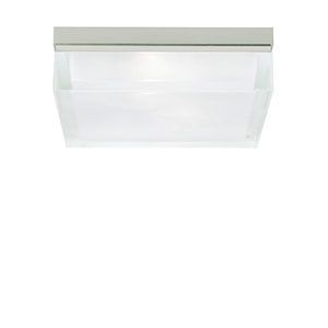 Boxie Satin Nickel 800 Lumen 3000K LED Small Flush Mount