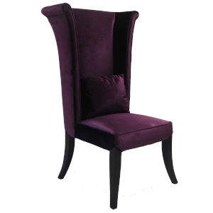 Mad Hatter Purple with Black Wood Dining Chair
