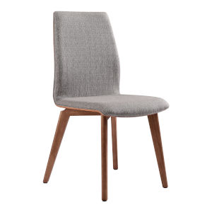 Archie Gray with Walnut Dining Chair, Set of Two