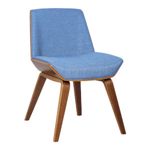 Agi Blue with Walnut Dining Chair
