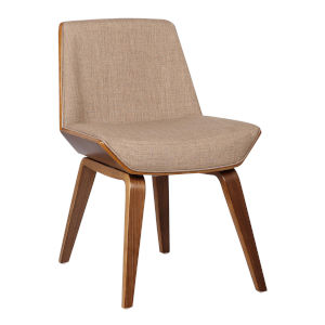 Agi Beige with Walnut Dining Chair